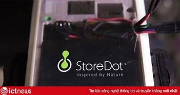 StoreDot - startup làm ra pin sạc được đầy trong 30 giây nhận đầu tư 500 triệu USD