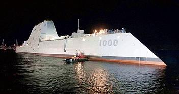 """Khu trục hạm tàng hình Zumwalt Mỹ """"sống lại"""" nhờ đạn siêu tốc"""