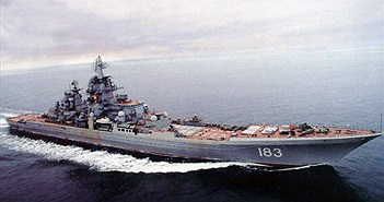 Tuần dương hạm mạnh nhất TG phóng tên lửa luồn dưới nước chui lên