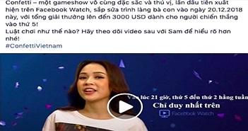 Facebook đố vui trực tuyến: Hotgirl dẫn chương trình, giải thưởng tới 6.000 USD