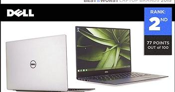Top 3 thương hiệu có máy tính đáng mua nhất năm 2015: 1-Apple, 2-Dell, 3-HP