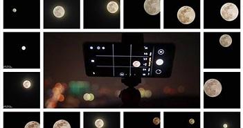 Thử 'săn trăng' ngày rằm qua lăng kính Huawei P30 pro
