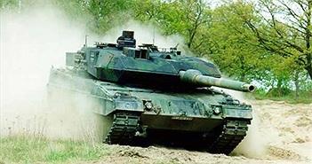 Quan sát xe tăng Leopard 2A6 phi nước đại, xả súng