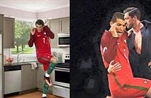 Điệu bộ khó đỡ của Cristiano Ronaldo qua trí tưởng tượng của dân mạng