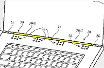 Apple có bằng sáng chế dùng khe trống giữa màn hình laptop và thân máy để làm ăng-ten không dây