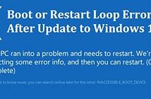 Windows 10 dính lỗi khởi động lại liên tục