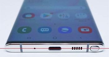 Từ Galaxy Note 10, chẳng ai có thể săm soi 'lỗi' thiết kế nhỏ xíu này