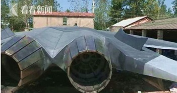 Chán xe tăng, nông dân Trung Quốc làm máy bay tàng hình