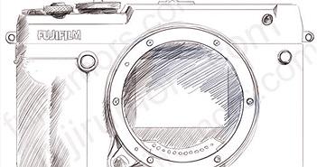 Bản vẽ tay tiết lộ thiết kế của máy ảnh Fujifilm GFX 50R