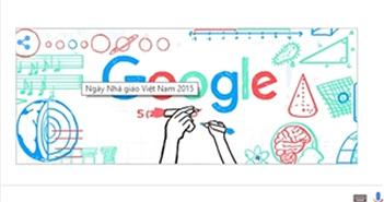 Google đổi hình Doodle mừng ngày Nhà giáo Việt Nam