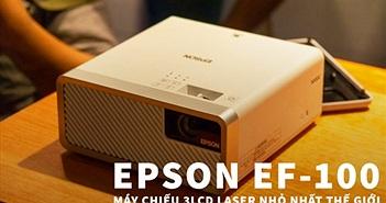 Máy chiếu laser 3LCD EPSON EF-100 nhỏ nhất thế giới ra mắt thị trường Việt giá từ 25 triệu