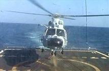 Mục kích trực thăng Trung Quốc hạ xuống tàu chiến Mỹ