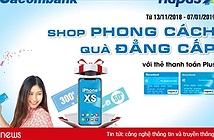 Cơ hội sở hữu iPhone XS khi thanh toán qua POS bằng thẻ Sacombank NAPAS
