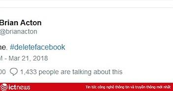 Đồng sáng lập WhatsApp kêu gọi người dùng xóa Facebook