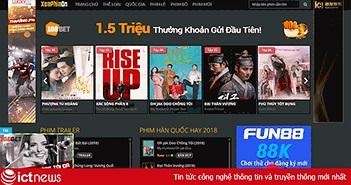 Nhiều trang phim lậu vẫn ngang nhiên quảng cáo cờ bạc online