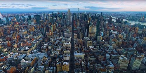 Video tuyệt đẹp thành phố New York được quay trên không ở độ phân giải 12k
