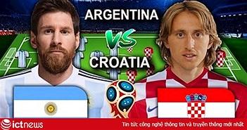 Xem bóng đá World Cup 2018 trận Argentina vs Croatia trực tiếp trên VTV3, HTV9