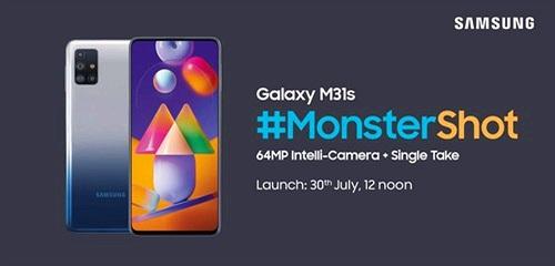 Samsung Galaxy M31s: bốn camera, pin 6.000mAh, sạc nhanh 25W, ra mắt ngày 30/7