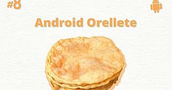Android 8.0 có tên mã là Orellete chứ không phải là Oreo