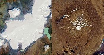 Bức ảnh này lột tả sông băng đầu tiên 'qua đời' ở Iceland