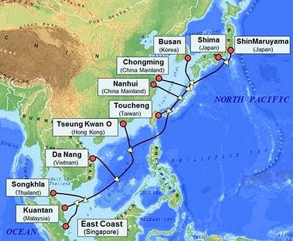 Hoàn tất tuyến cáp quang APG băng thông 54 Tb/s chạy qua Việt Nam