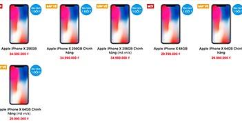 Giá iPhone X xách tay sắp rớt, người dùng chờ hàng chính hãng