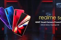 Realme 5s ra mắt: pin 5000 mAh, 4 camera sau 48MP, giá từ 139 USD
