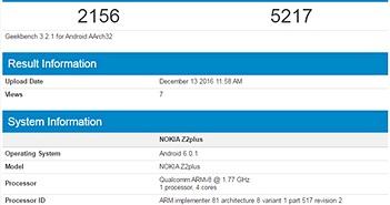 Xuất hiện Nokia Z2 Plus dùng RAM 4GB