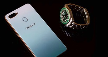 Mở hộp Oppo F9 Xanh Phỉ Thuý: màu sắc ấn tượng, giá 6.990.000 VND