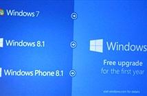 Microsoft sẽ cho người dùng nâng cấp miễn phí lên Windows 10