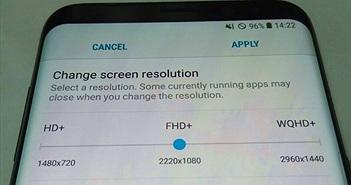Galaxy S8 cho phép thay đổi độ phân giải màn hình?