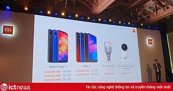 Xiaomi tung Redmi Note 7, Redmi 7 tại Việt Nam, giá bán từ 2,99 triệu đồng