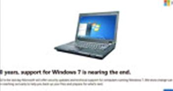 Cái chết của Windows 7 đang đến gần