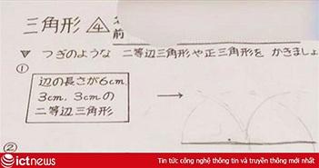 Bài toán vẽ tam giác cấp một khiến nhiều dân mạng Nhật Bản chịu thua