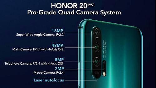 Honor 20/20 Pro ra mắt: 4 camera 48MP, màn hình đục lỗ, giá 556 USD