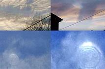 Bí ẩn vòng xoáy đồng tâm nhấp nháy trên bầu trời
