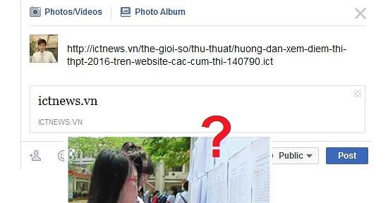 Sửa lỗi chia sẻ link trên Facebook không hiện ảnh thumbnail mới