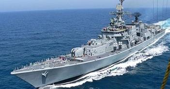 Trông mặt tàu chiến lớn thứ ba của Hải quân Ấn Độ