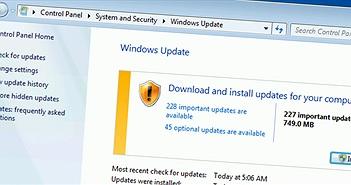 Kể từ tháng 10, Windows 7/8.1 sẽ được cập nhật dưới dạng 1 gói tổng hợp, phát hành theo tháng