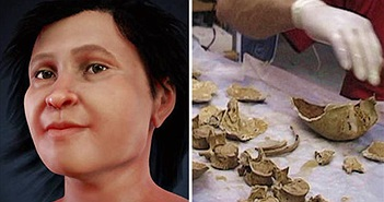 Hé lộ khuôn mặt người phụ nữ cổ xưa sống cách đây 13.600 năm