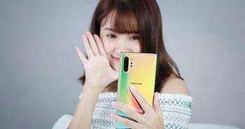 Khui hộp Samsung Galaxy Note 10+ bản Aura Glow trước giờ mở bán