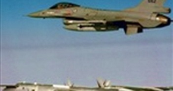 [ẢNH+VIDEO] Hiện trường 2 tiêm kích F-16 đâm nhau trên không