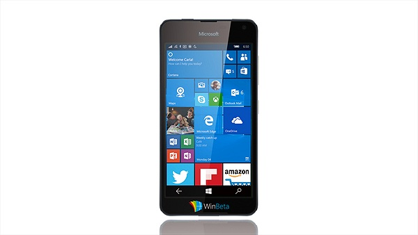 Đây có phải là ảnh render của Lumia 650?