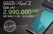 Cơ hội duy nhất mua Alcatel Flash 2 dưới 3 triệu đồng tại Lazada
