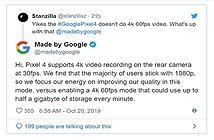 Tại sao Google không hỗ trợ quay video 4K 60fps trên Pixel 4?