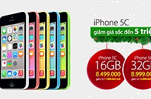 Giá iPhone 5C chính hãng giảm sâu' từ 3 đến 5 triệu đồng