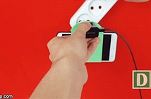 Mẹo chế giá treo smartphone khi sạc cực chất
