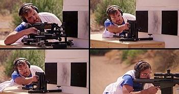 Mãn nhãn cảnh quay chậm khi viên đạn phóng ra khỏi nòng súng