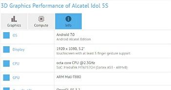 Lộ Alcatel Idol 5S cấu hình ổn, giá mềm