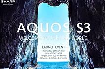 Smartphone viền cực mỏng Sharp Aquos S3 ra mắt ngày 28/3